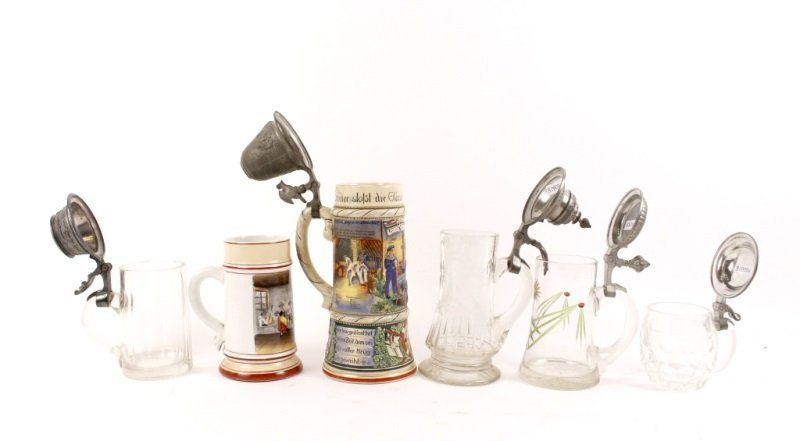 Collection of 6 German Tankards or Bier Steins - 3