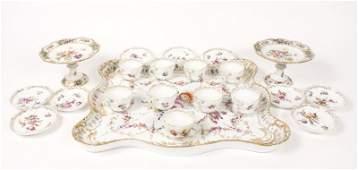 21 Piece German Porcelain Group, Meissen, Dresden