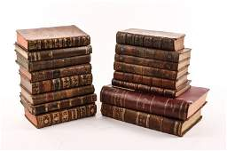 Group of 16 18th19th Century Leather Bound Books