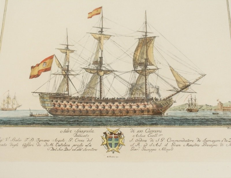 After G. Allezard, Pair of Colored Ship Engravings - 2