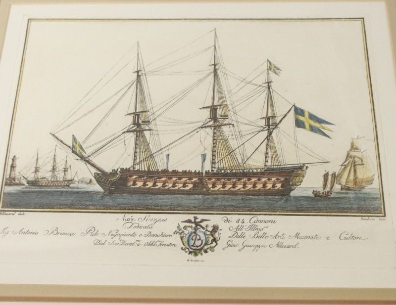 After G. Allezard, Pair of Colored Ship Engravings - 3