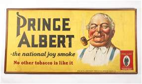 Framed Prince Albert Tobacco Fabric Banner Ad