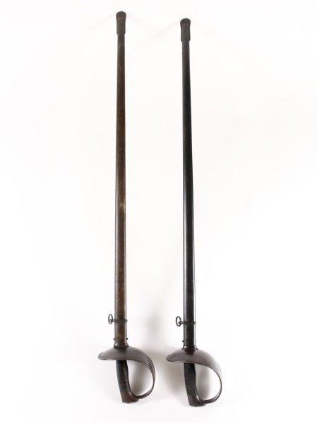 Pair of Spanish Cavalry Swords w/Scabbards