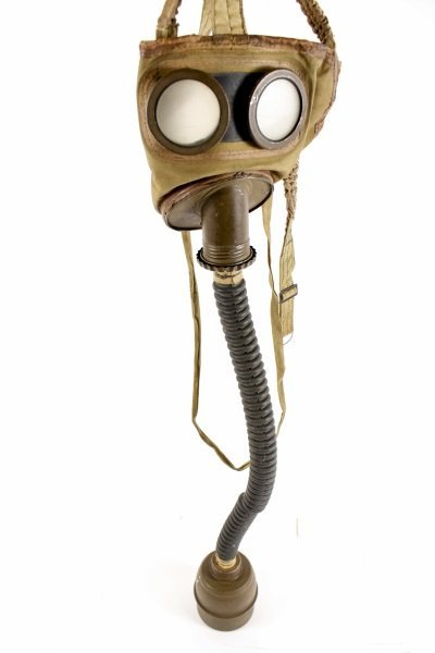 French World War II Gas Mask w/ Canister