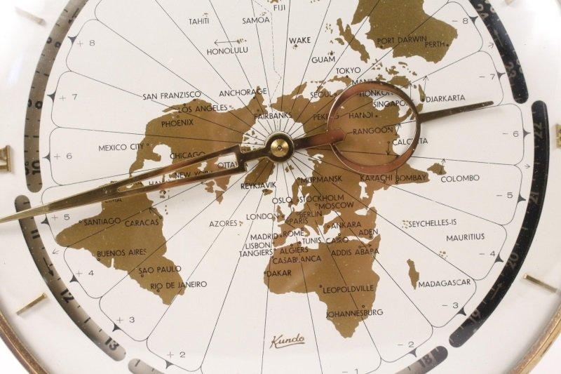 West German Kundo Desktop World Clock, c. 1960s - 2
