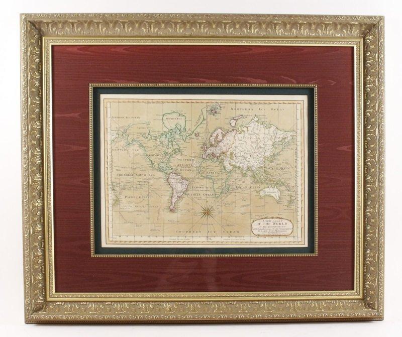 After Samuel Dunn, New Chart of the World Map