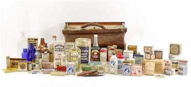 79 Vintage Apothecary Products wDoctors Bag