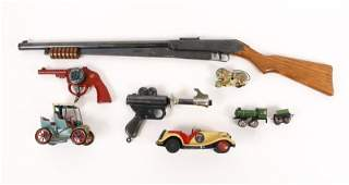Collection of 7 Toy Guns & Vintage Toys