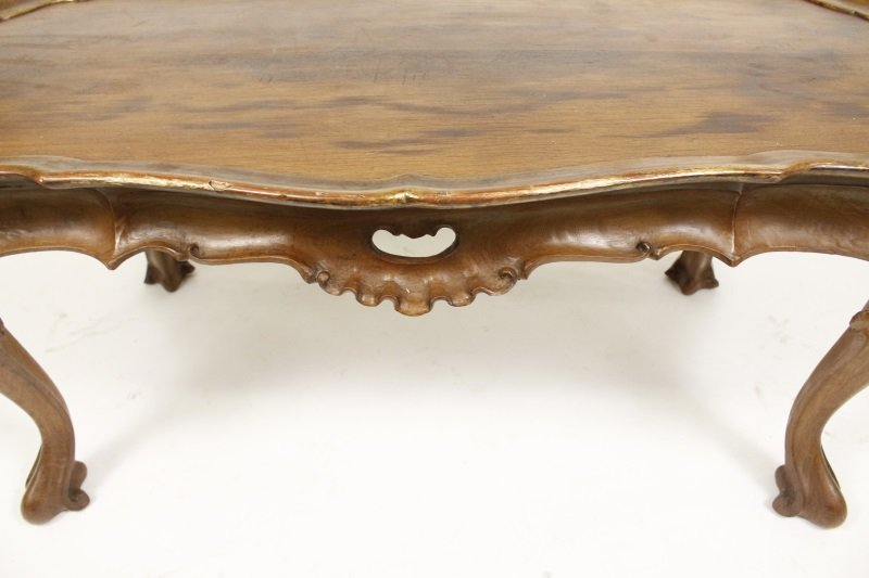 Spanish Rococo Style Olive Wood Coffee Table - 2