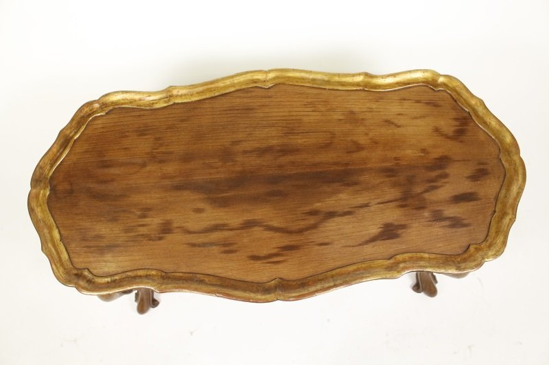 Spanish Rococo Style Olive Wood Coffee Table - 4