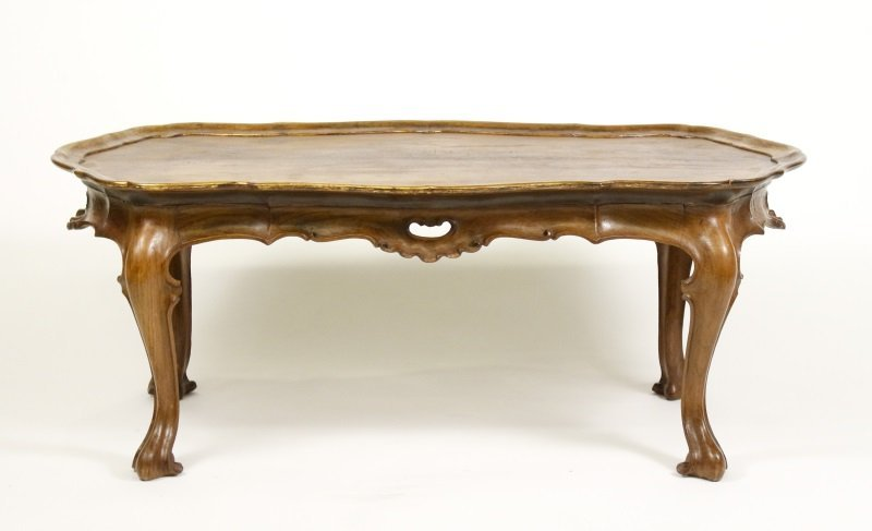 Spanish Rococo Style Olive Wood Coffee Table - 5