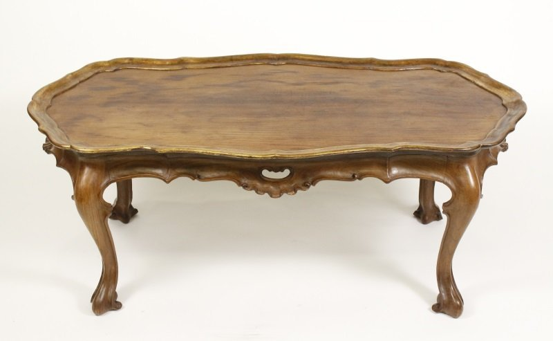 Spanish Rococo Style Olive Wood Coffee Table - 6