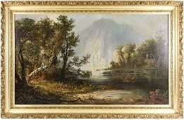 Hudson River School Oil, Paul Ritter, 19th/20th C.