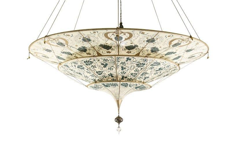 Fortuny three tiered silk chandelier italian fortuny three tiered silk chandelier arubaitofo Gallery