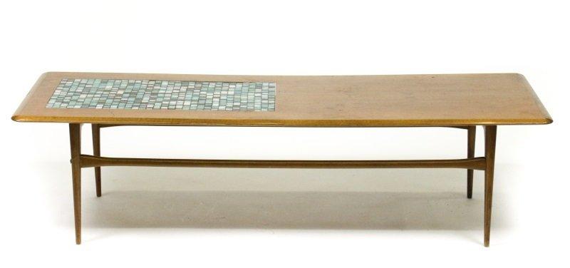 Selig Mid Century Modern Teak & Tiled Coffee Table - 3