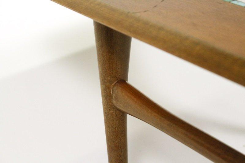 Selig Mid Century Modern Teak & Tiled Coffee Table - 5