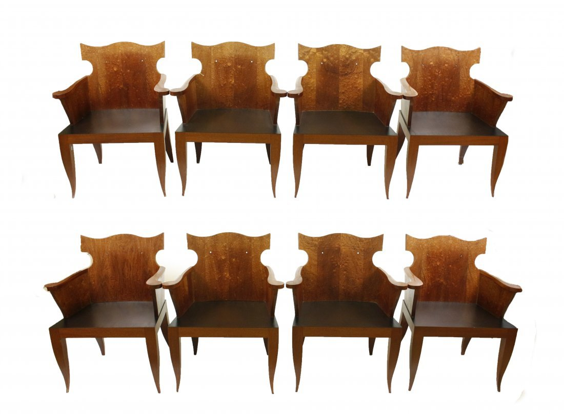 Set of 8 French Deco Style Armchairs