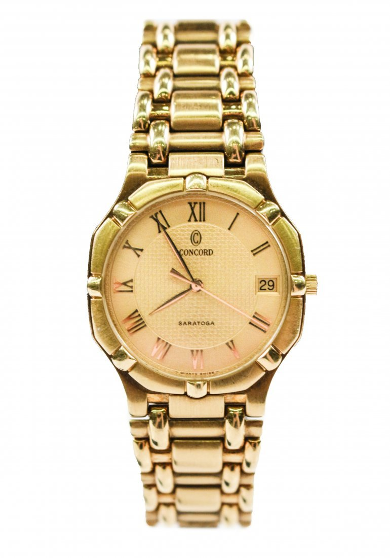 "Concord ""Saratoga"" 18k Yellow Gold Watch"