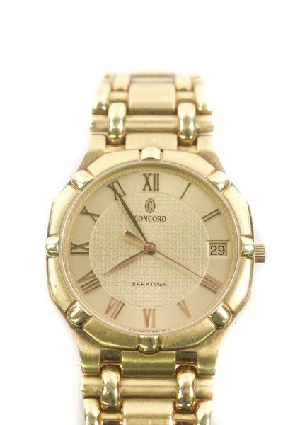 "Concord ""Saratoga"" 18k Yellow Gold Watch - 6"