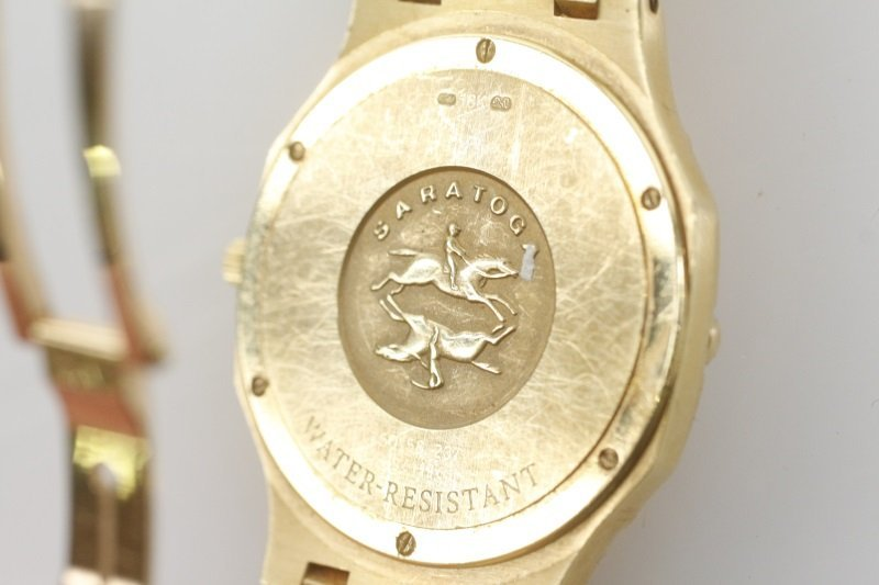 "Concord ""Saratoga"" 18k Yellow Gold Watch - 8"