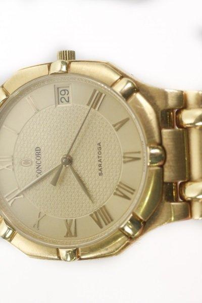 "Concord ""Saratoga"" 18k Yellow Gold Watch - 9"