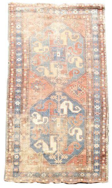 Hand Woven Antique Kazak Area Rug