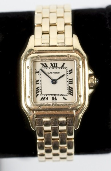 """Ladies Cartier 18k Yellow Gold """"Panthere"""" Watch"""