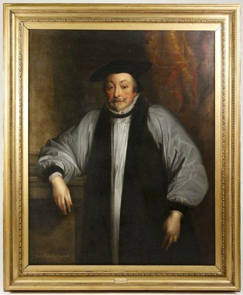 """Studio of Van Dyck, """"Portrait of Archbishop Laud"""""""