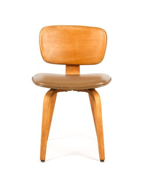 Joe Atkinson for Thonet Plywood & Vinyl Chair