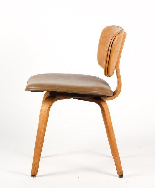 Joe Atkinson for Thonet Plywood & Vinyl Chair - 2