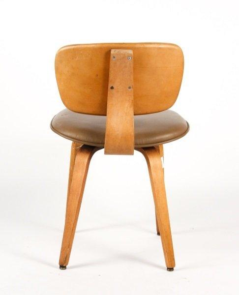 Joe Atkinson for Thonet Plywood & Vinyl Chair - 3
