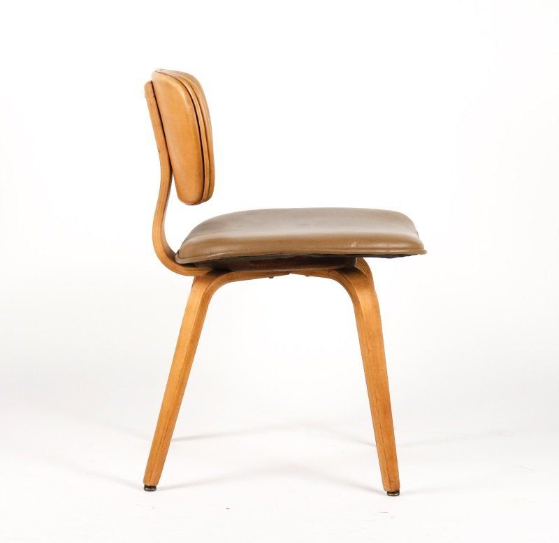 Joe Atkinson for Thonet Plywood & Vinyl Chair - 4