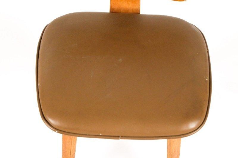 Joe Atkinson for Thonet Plywood & Vinyl Chair - 6