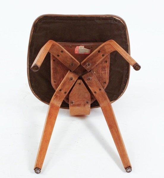 Joe Atkinson for Thonet Plywood & Vinyl Chair - 9