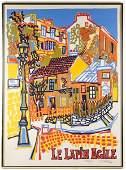 """Gabriel Paris,""""Le Lapin Agile"""" Pencil Signed Print"""