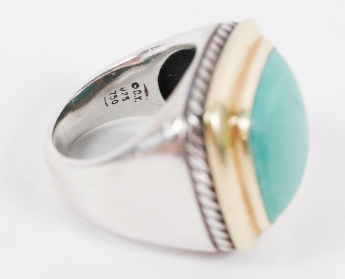 David Yurman 18k Gold, Sterling & Turquoise Ring - 2
