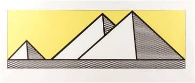 """Roy Lichtenstein, """"Pyramids"""" Signed AP Lithograph"""
