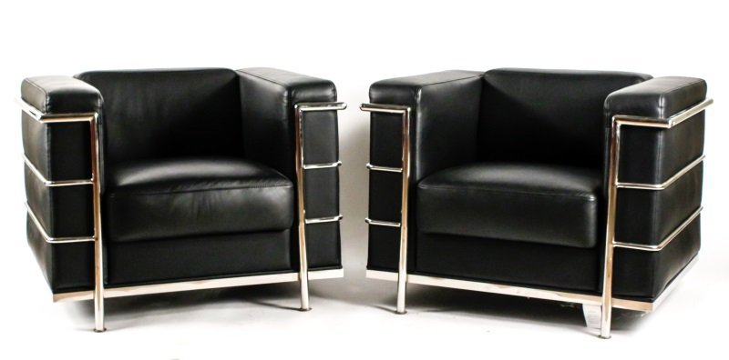 Pair of Le Corbusier Style Club Chairs