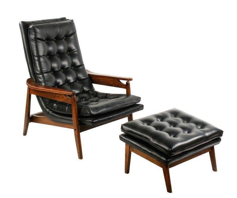 Milo Baughman Scoop Lounge Chair & Ottoman