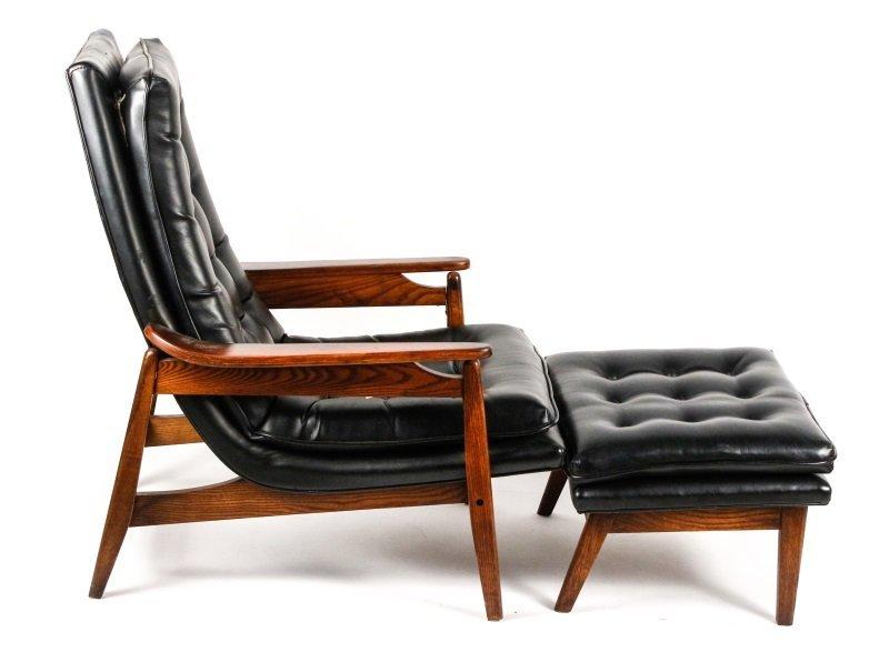 Milo Baughman Scoop Lounge Chair & Ottoman - 2