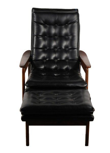 Milo Baughman Scoop Lounge Chair & Ottoman - 3