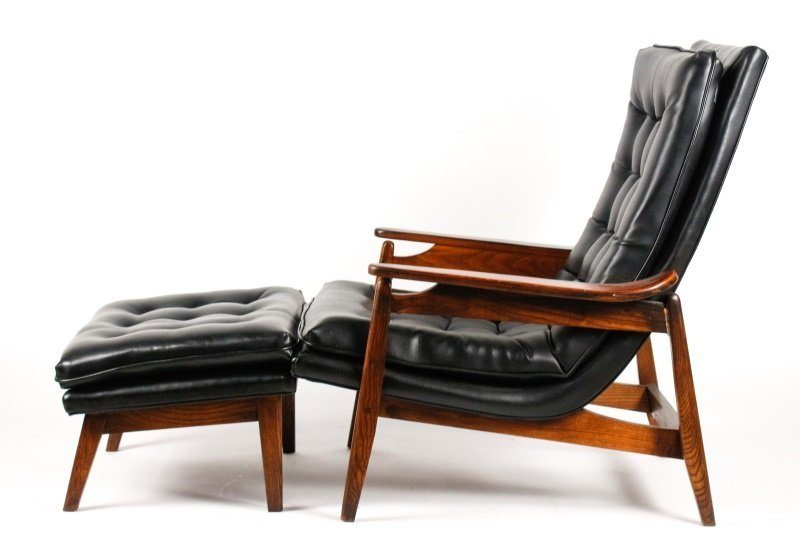 Milo Baughman Scoop Lounge Chair & Ottoman - 5