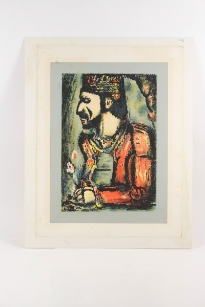 2 Georges Rouault Aquatints, Two Clowns & Old King - 2