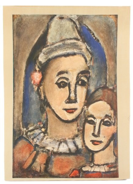 2 Georges Rouault Aquatints, Two Clowns & Old King - 8