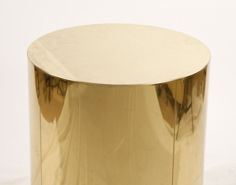 Large Brass Drum Pedestal or Dining Table Base - 2