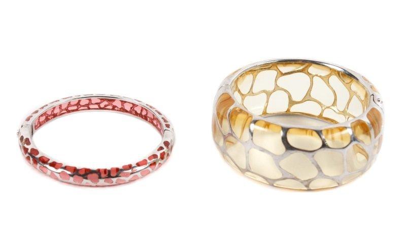 Two Angelique de Paris Sterling Safari Bracelets