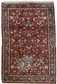 Hand Woven Persian Sarouk Area Rug 44 x 69