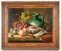 "Thomas Charles Bale, ""Still Life"" O/C 19th c."