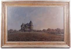 Butler Brown House on a Hill Signed  Dated