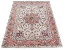 Large Fine Handwoven Silk Tabriz Rug